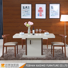 Wholesale dining room furniture high gloss dining table and chairs set