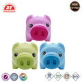 Pink piggy bank toy coin factory bank