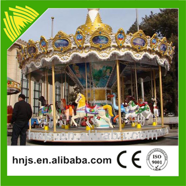 16 seats amusement rides luxury carousel outdoor playground equipment