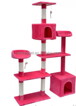 Multi-Level indoor Cat Trees scratcher & Cat Furniture cat house perch
