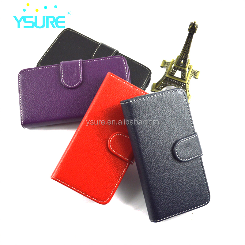 <strong>2</strong> in 1 Li Chi Pattern leather case for iphone 6 , detachable inner shell with mirror card slots