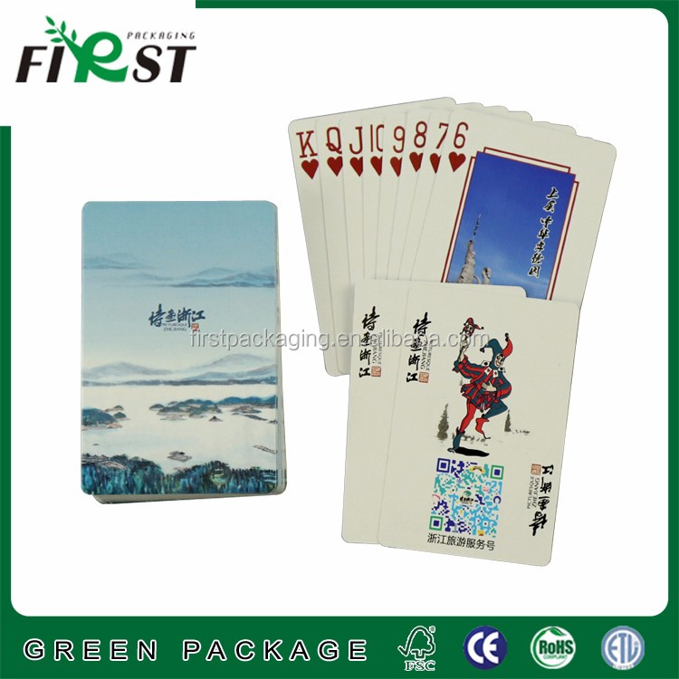 Advertising poker Type and paper material paper game cards custom design playing cards
