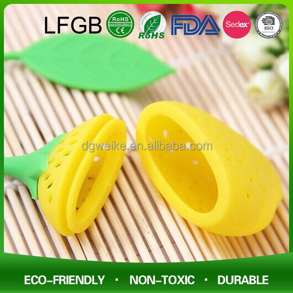 Food Grade Collapsible unique Tea coffe tool silicone tea filter