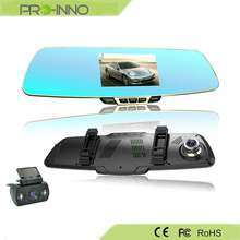 1080P Full HD Dual Camera Rear Mirror Car DVR with parking mode camera