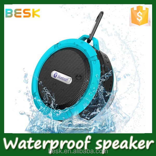 NEW PRODUCTS 2015 High Quality Top Seller Shower Bluetooth Speaker Waterproof