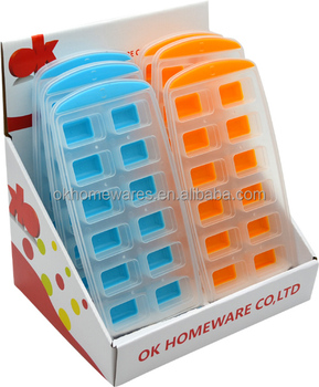 Rectangular Shape Ice Cube Mold Ice Cube Tray Pop Up Jelly Mould Tray