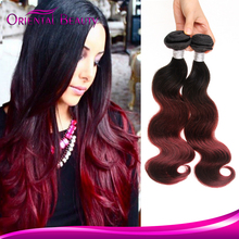 Beautiful In Colour Colored Two Tone Hair Weave For Black women,Malaysian Red Color Hair Human Hair Beyonce Weaving