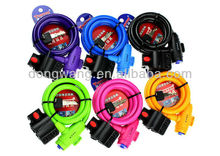 Colorful bicycle cable lock,tonyon lock