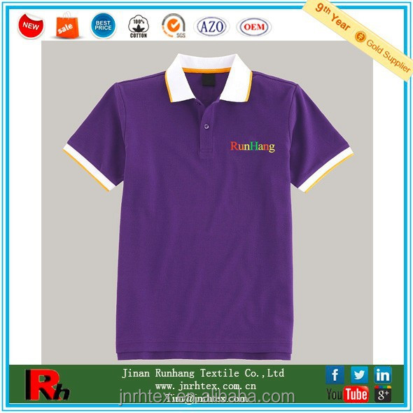 Custom 100% Cotton Polo T-Shirt Embroidered