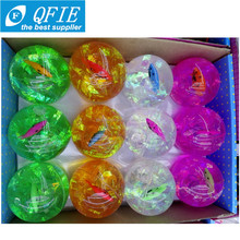 5.5/635/7.5CM led flashing bouncing ball with multi-color light and professional playground bouncing balls