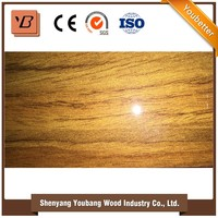 colourful high glossy UV coated melamine faced MDF board of all size for decoration made from shandong China uv panels