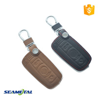 Car Key Cover Case Leather Car Styling Key Cover With Buckle For BMW 1 3 6 Series X1 X5 X6 Z4 M3 M6 X5M X6M Accessories