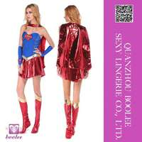 Wholesale low price popular style Sexy Supergir Costume Sexy halloween costumes for women Sexy party cosplay