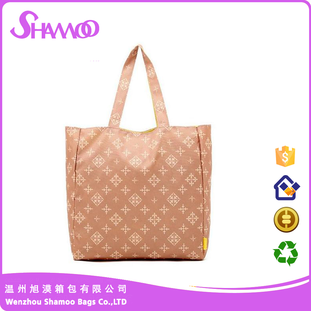 promotional tote foldable polyester shopping bag