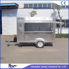 JX-FS300C Outdoor stainless steel beverage cart food carts mobile food truck