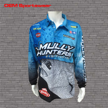 Custom wholesale polyester unbranded fishing shirt clothes