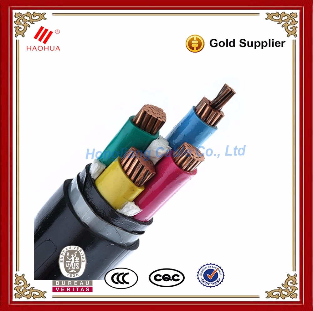NO.0096- PVC insulated three phase 600V XLPE FR power cable 4C 50 sq mm copper 4 core 50mm electrical cable
