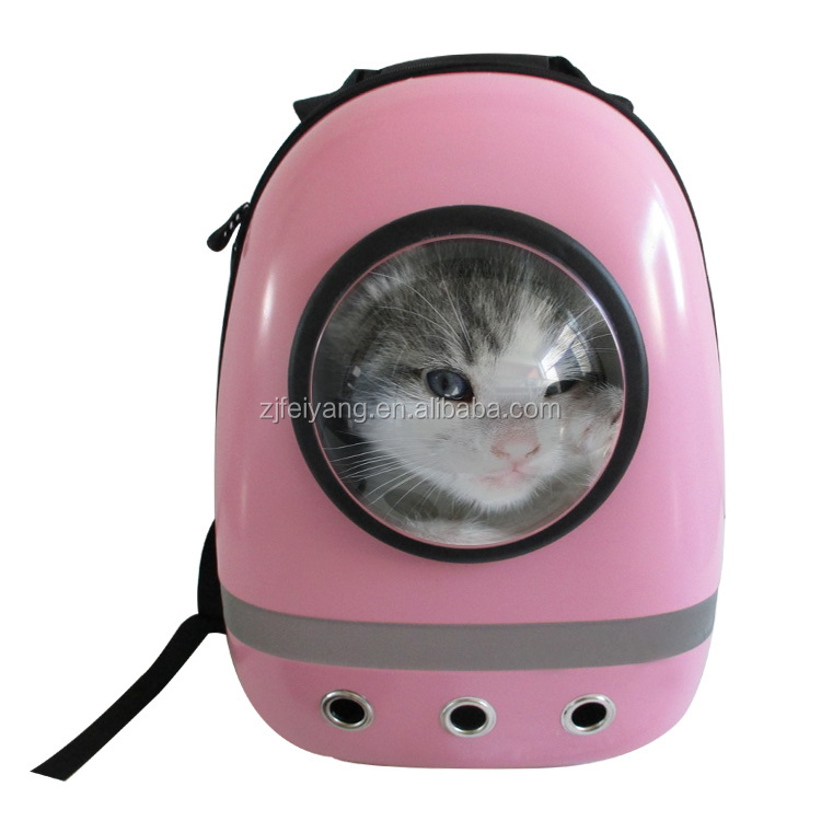 Good quality airline approved OEM transport travel convenient pet carrier dog/cat bags home , ABS capsule space pet backpack