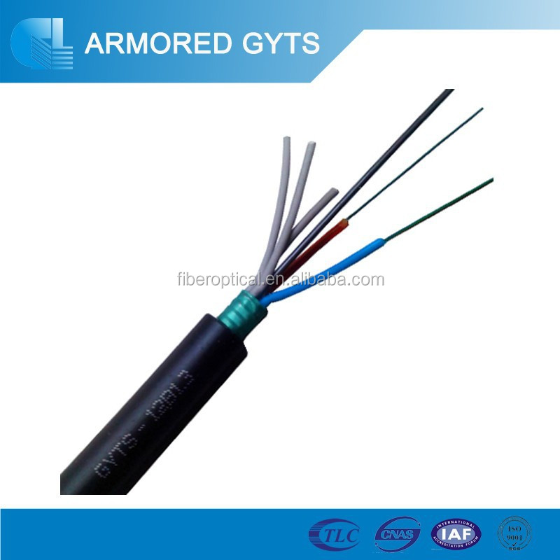 12 core duct type multimode/ single mode light- armored fiber optic cable GYTS