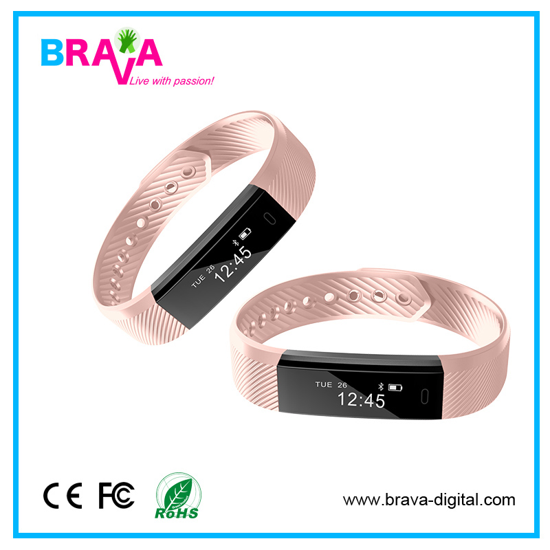 Top Quality Blood Pressure Monitor Stereo Bluetooth Speakers Bracelet Smart Watch For W88