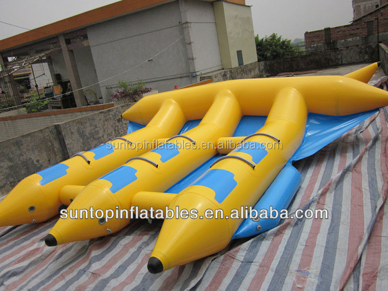 hot water game inflatable flying fish with high quality and god price