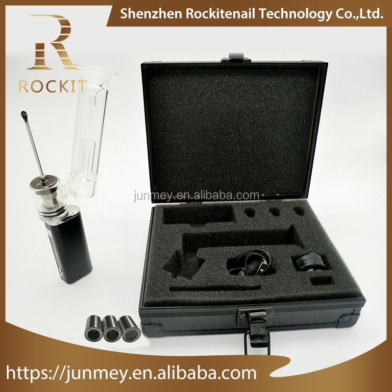 Rockit portable e-nail wax dab kit with replacement ceramic coil atomizer