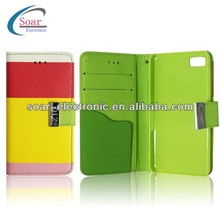 2013 hot selling wallet cute leather case for blackberry z10