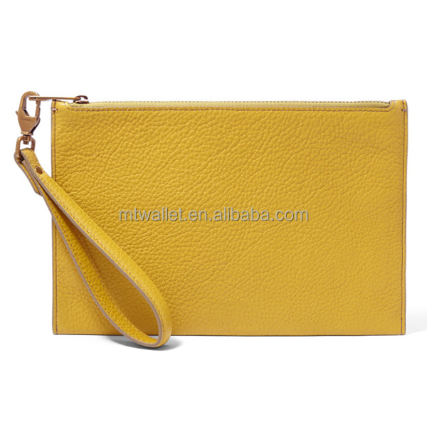 Factory price Wholesale Leather phone wristlet with leather wristlet strap