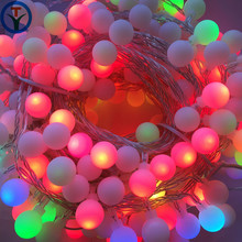 30m 300 Leds Color Changing Waterproof Outdoor LED G20 mini globe Ball Lights rattan ball string light