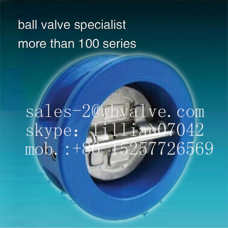 GG25 GGG40 Dual-plate Wafer Check Valve astm a216 wcb