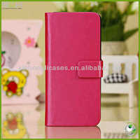 Wallet card pu leather cell mobile phone flip case