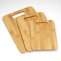 Best 3 Bamboo Cutting Boards - Large Medium Small Size Set - Antimicrobial and Germ-resistant Butcher Block Wood