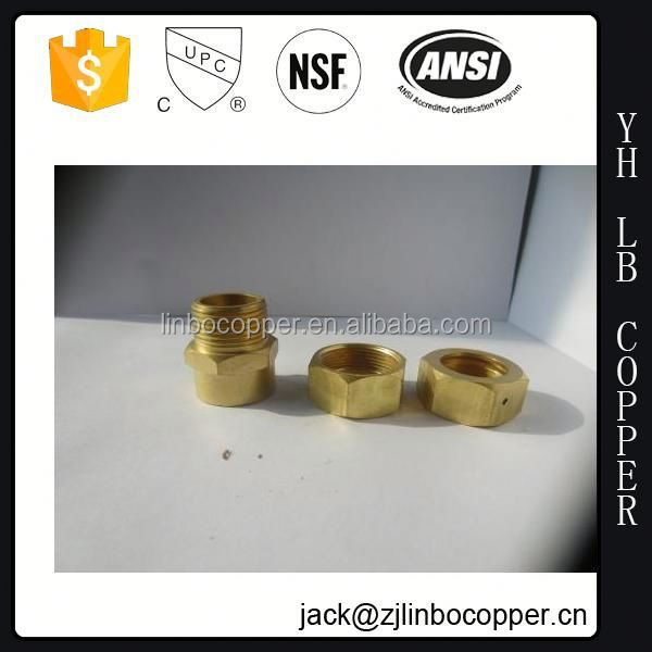 cnc lathe part precise custom pipe and fitting,dome shape hex head brass nipple,brass pipe extension nipple