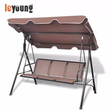 3 Seater Patio Metal Swinging Seat Bench Garden Swing Chair