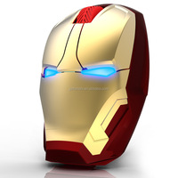 2015 hot selling professional gaming mouse 4d iron man wireless gaming mouse