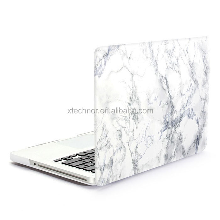 "Customise Ultra Slim Light Weight Matte Rubberized Hard Case Cover for Macbook Pro 13"" White Marble Protective Shell"