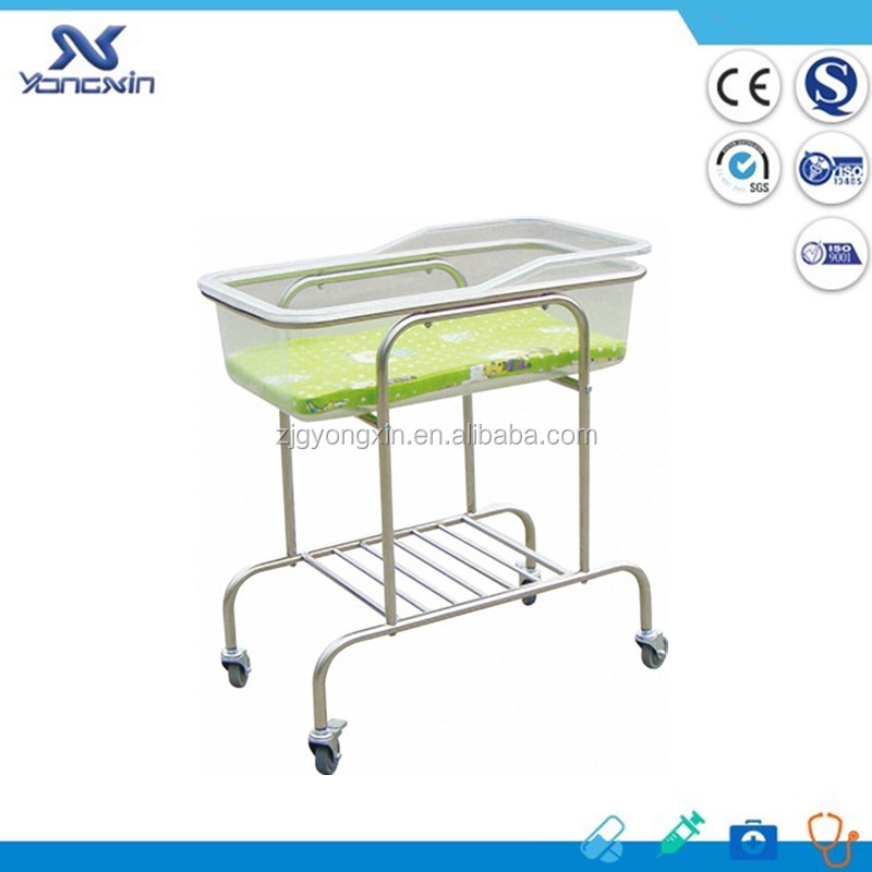 YXZ-010 Cheap Infant Hospital Bed Acrylic Baby Crib Neonatal Cribs Baby Metal Bed