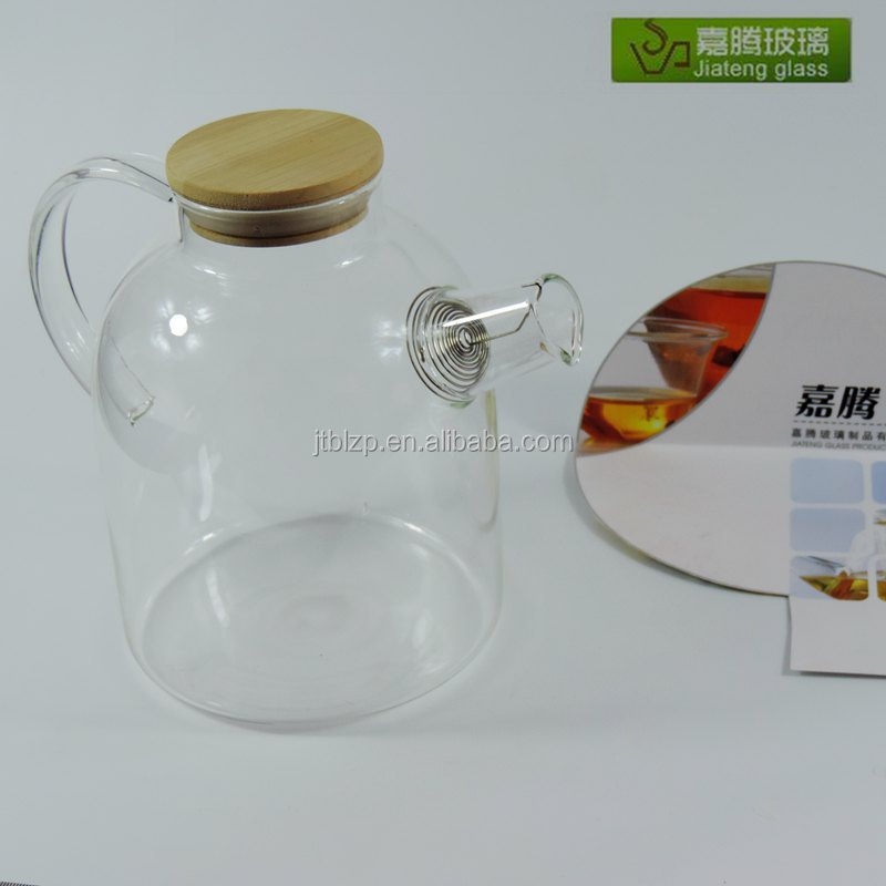 nice hand made glass jug/High temperature resistance glass tea pot/glass tea kettle
