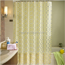 yellow waterproof transparent curtain PEVA bathroom products thick shower curtain