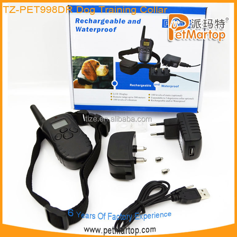 998DR 300 meter range remote training dog collars
