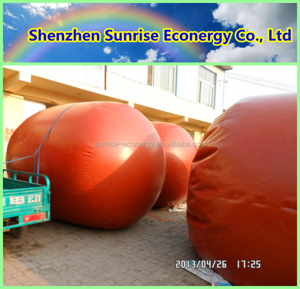 Sunrise econergy 3-100m3 PVC membrane biogas digester price for animal waste