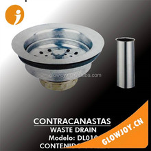 (DL-010) polished sink hole cover with 10CM tube