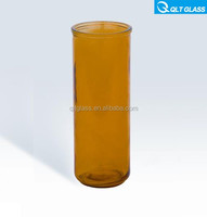 300ml cylinder colored candle glass bottles/candle jars