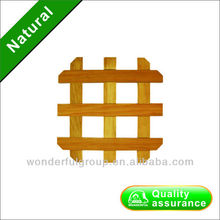 Simple shaped bamboo dining table mat set