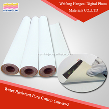 Inkjet printing cotton canvas paper 100% Pure Polyester Canvas Roll Natural Color Canvas for Inkjet Printing