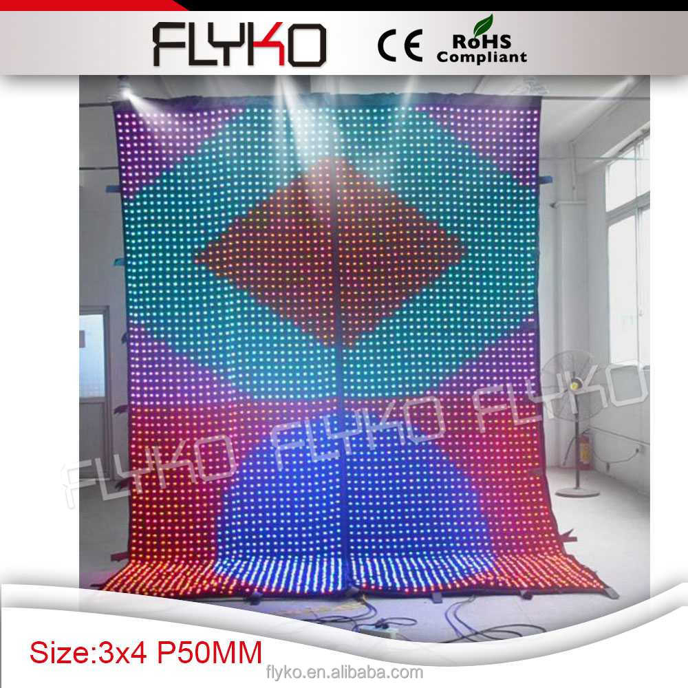 indoor full color hd led curtain <strong>video</strong>