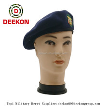 Navy Wool Beret Caps for Yemen Military:militarypolicesupplies.com