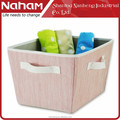 Naham fabric Storage bin with handles/decorative storage box/fabric storage basket