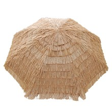 Chinese family garden unique custom outdoor shade Hawaii straw beach umbrella