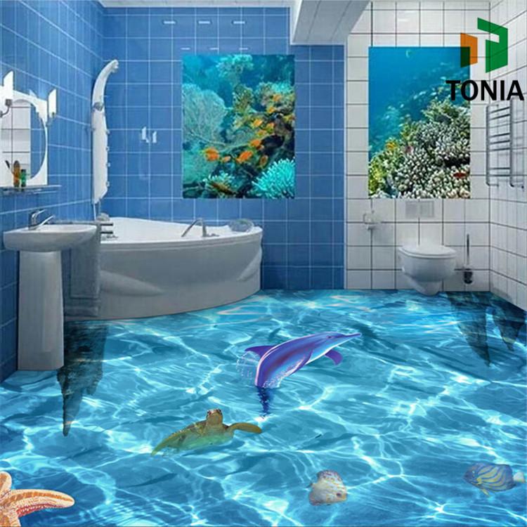 3d bathroom tile happy floors porcelain tile 3d porcelain for Salle de bain 9m